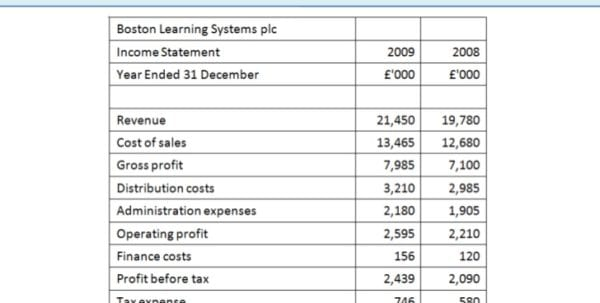 Simple Income Statement Example
