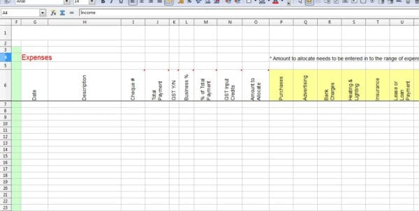Tax Spreadsheet Template For Business Spreadsheet For Tax Expenses Spreadsheet Templates for Business