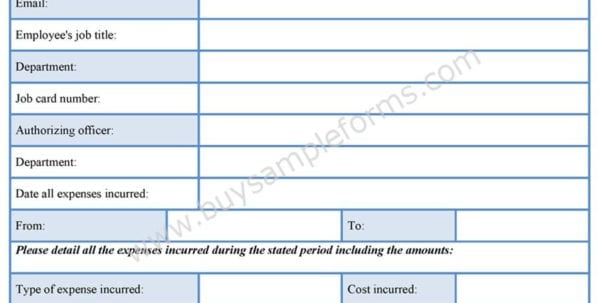 Travel Expense Report Template 2