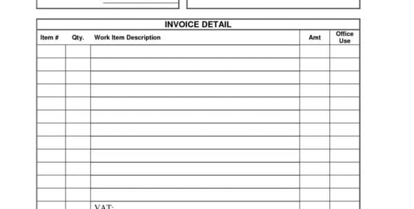 1099 Contractor Invoice Template