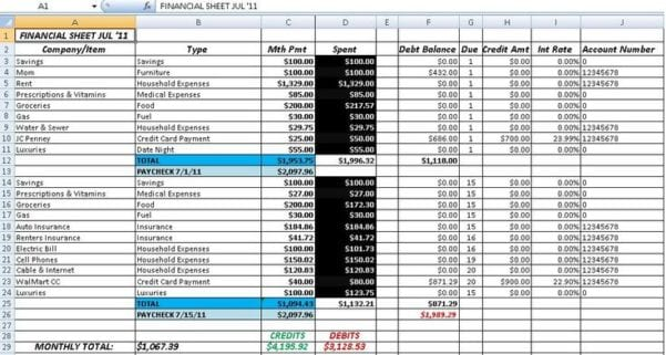 Accounting Spreadsheets For Excel Accounting Spread Sheet Spreadsheet Templates for Busines Finance Spreadsheet