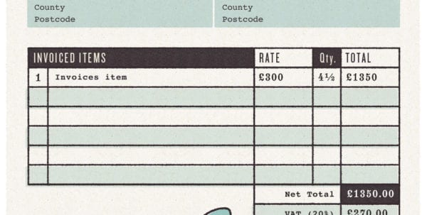Artist Invoice Sample