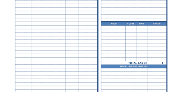 Business Invoices Job Invoice Template Spreadsheet Templates for Business