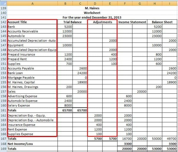 Simple Accounting Spreadsheet Excel