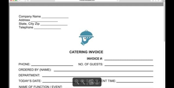Catering Service Invoice