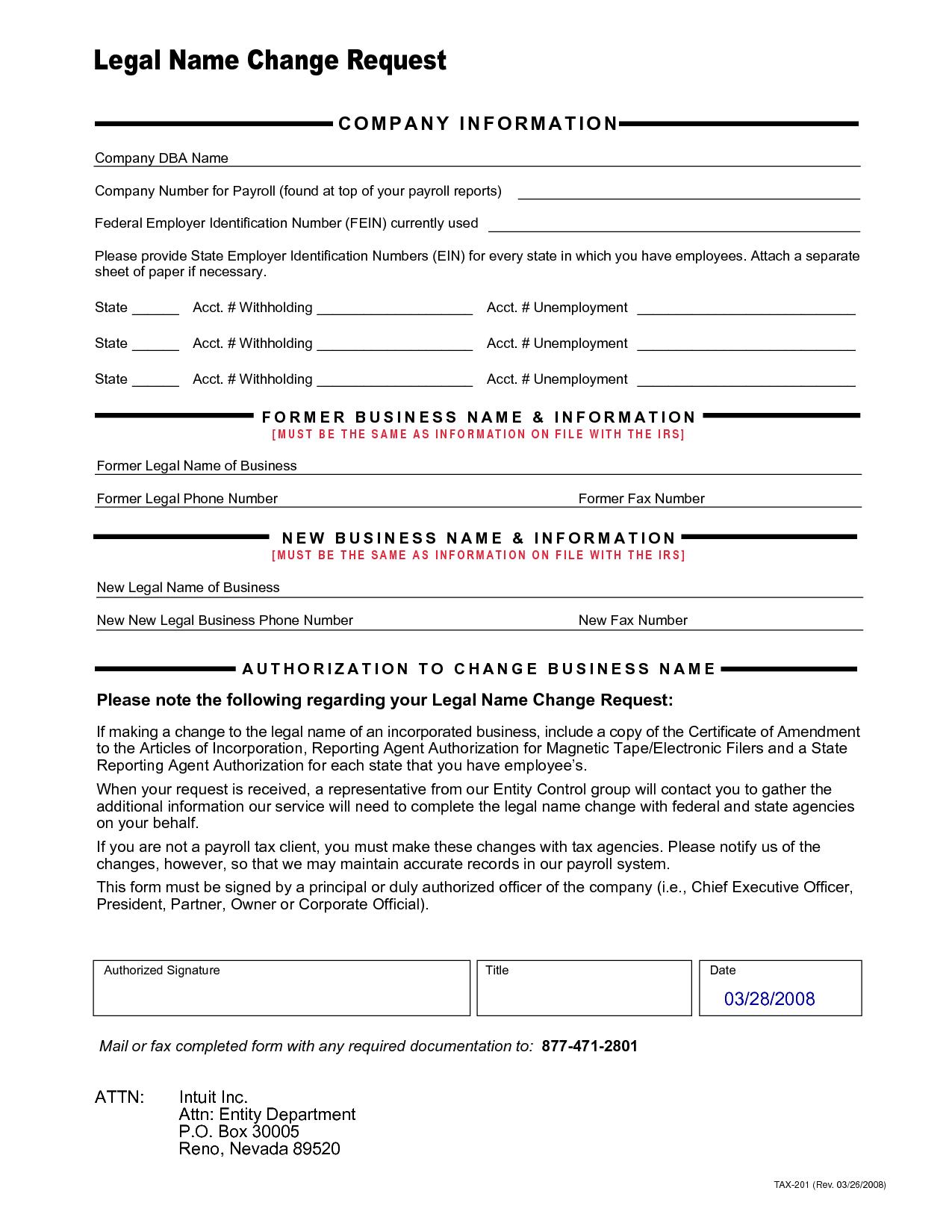 Company Forms Sample