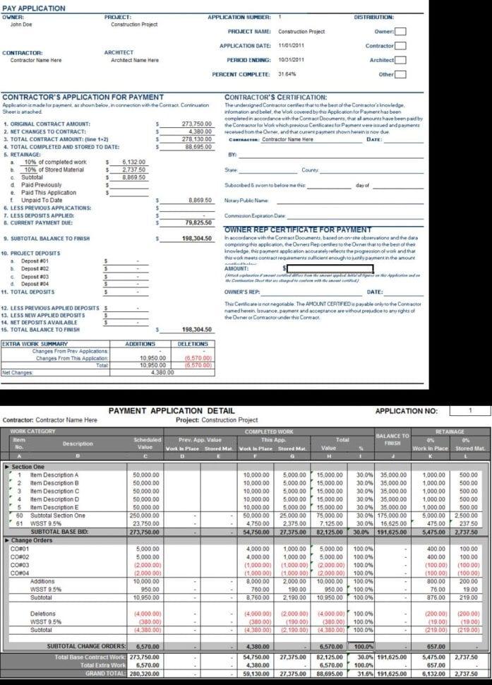 Contract Labor Invoice