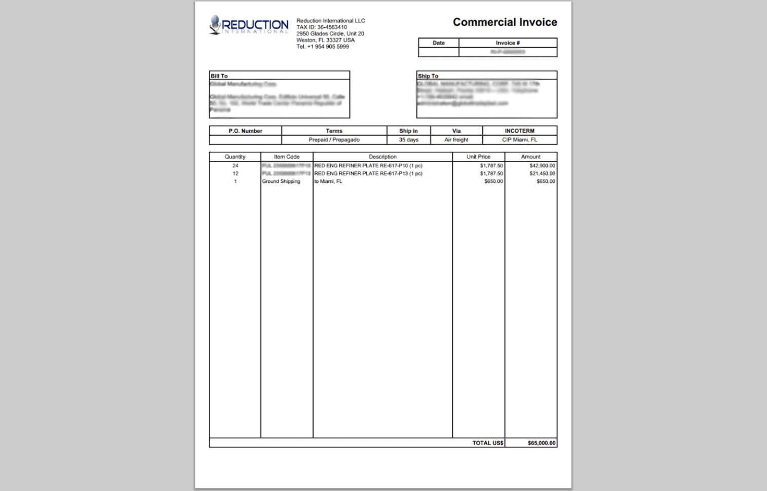 Customize QuickBooks Invoice Template