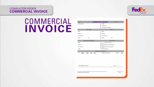 FedEx Commercial Invoice Fillable