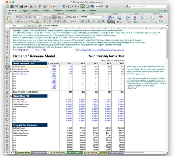 Free Financial Business Plan Template