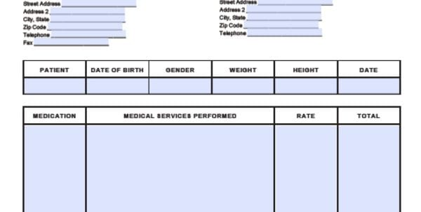 Free Printable Invoices For Small Business Medical Billing Invoice Template Free Medical Bill Format Pdf Medical Invoice Template Software Download Medical Bill Format For Reimbursement Medical Invoice Template Word Free Invoice Form