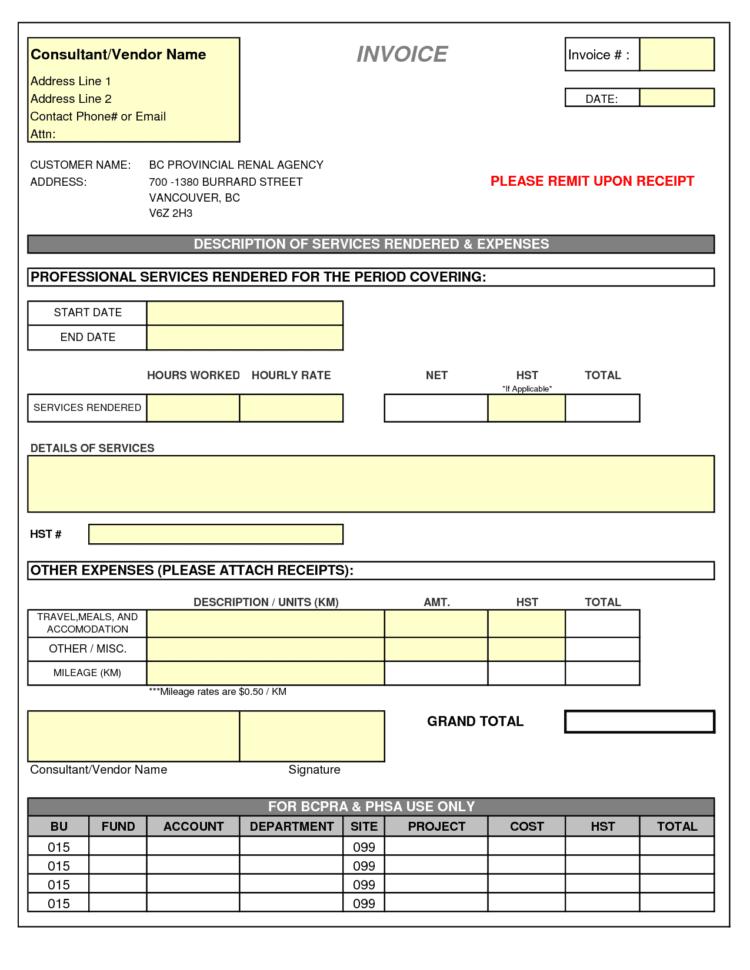 Freight Invoice Templates PDF