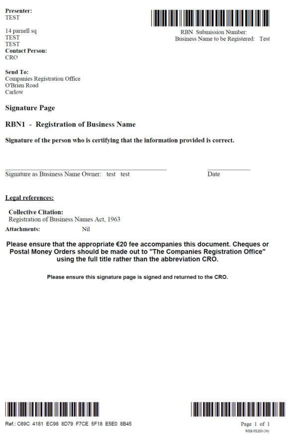 Illinois Business Registration Application