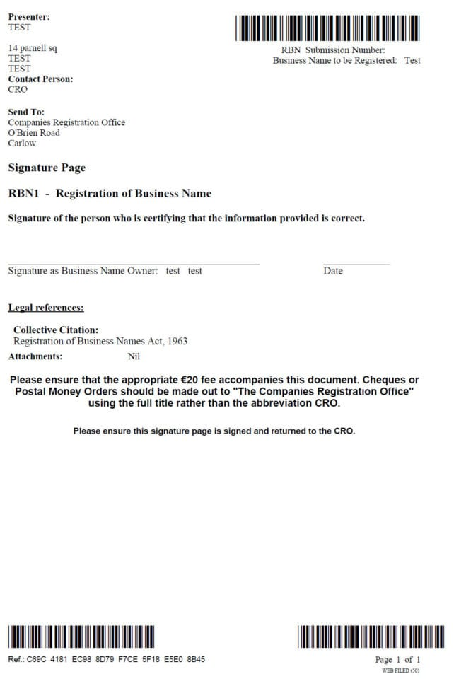 Illinois Business Registration Application