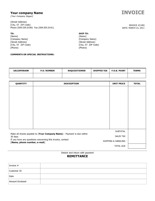 Invoice Templates Printable Free Invoice Template Excel Free Download Spreadsheet Templates for Busines Free Invoice Template