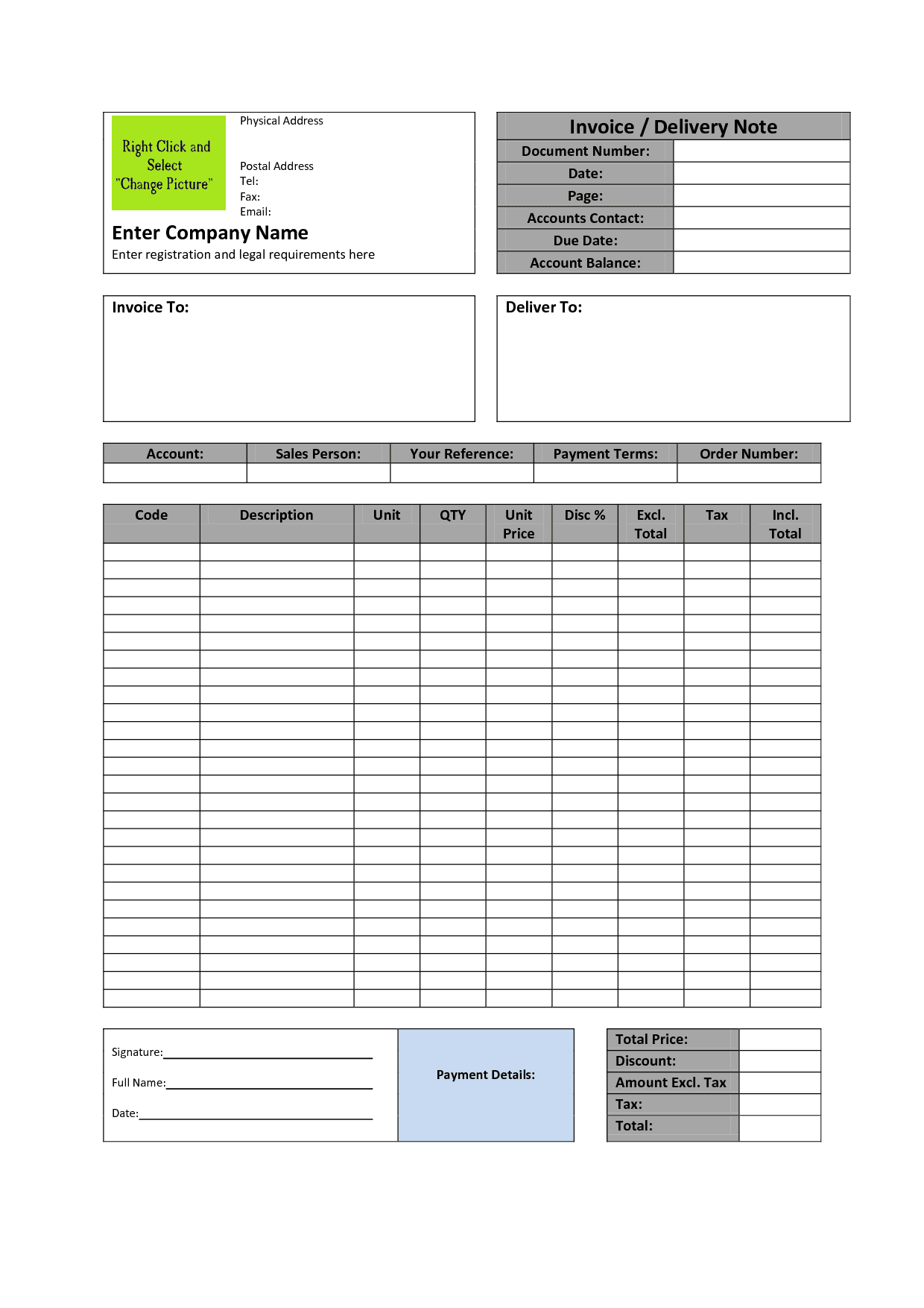 Invoice Templates Printable Free Invoice Template Word Doc Spreadsheet Templates for Busines Spreadsheet Templates for Busines Word Document Invoice Template Free