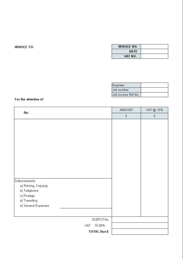 Invoice For Billable Hours Template