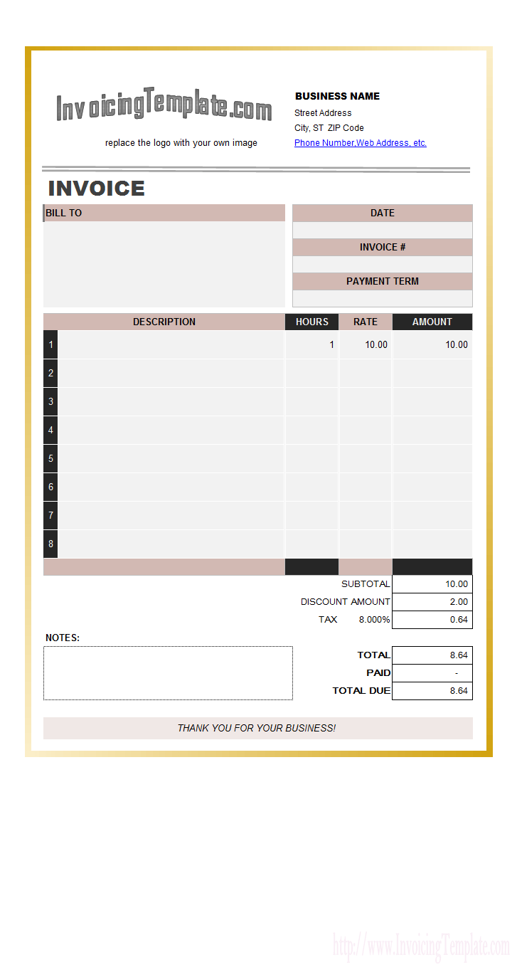 Labor Invoices Free