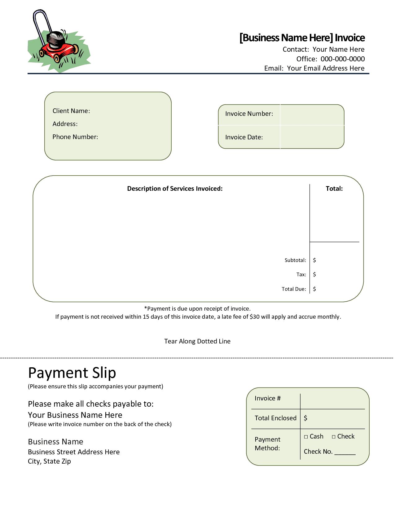 Landscaping Estimate Template