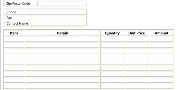 Microsoft Office Invoices Templates