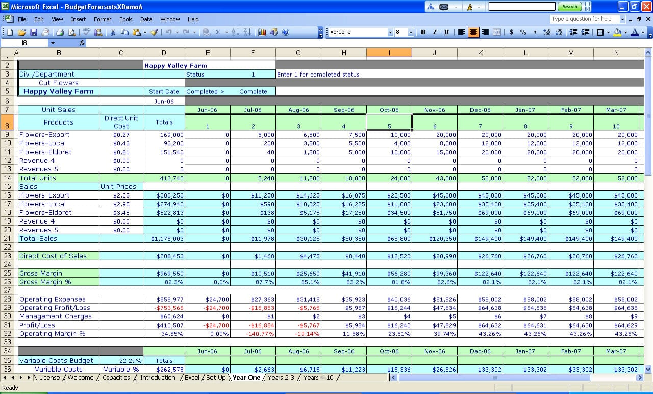 Tracking Business Expenses Spreadsheet 1