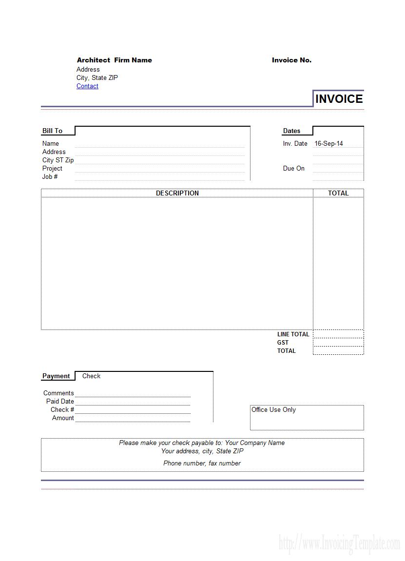 Work Invoices
