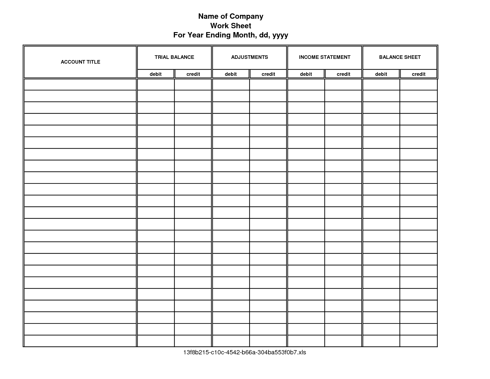 Accounting Forms Templates