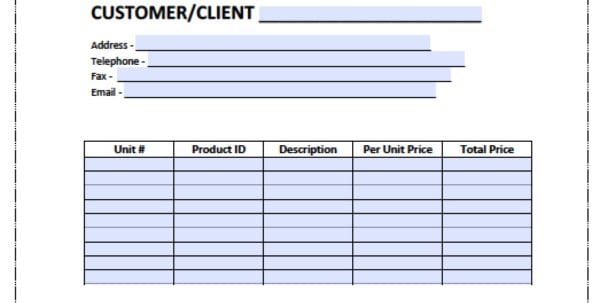 Bill Invoice Template Invoice Template Word Doc Spreadsheet Templates for Business