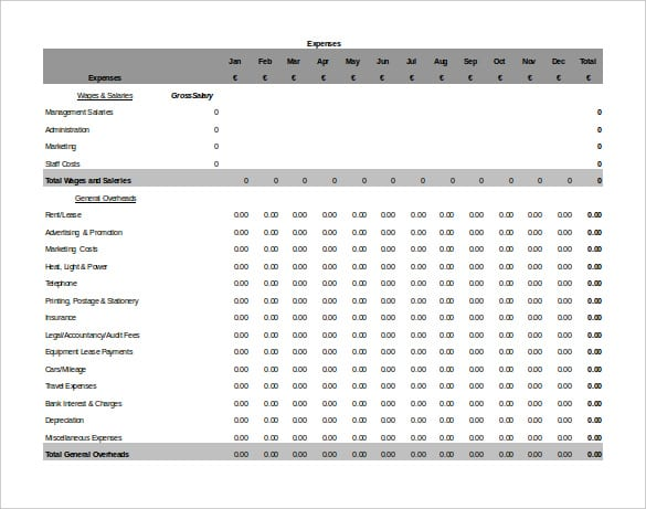 Blank Accounting Worksheet Template
