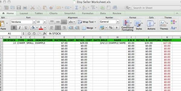 Bookkeeping Excel
