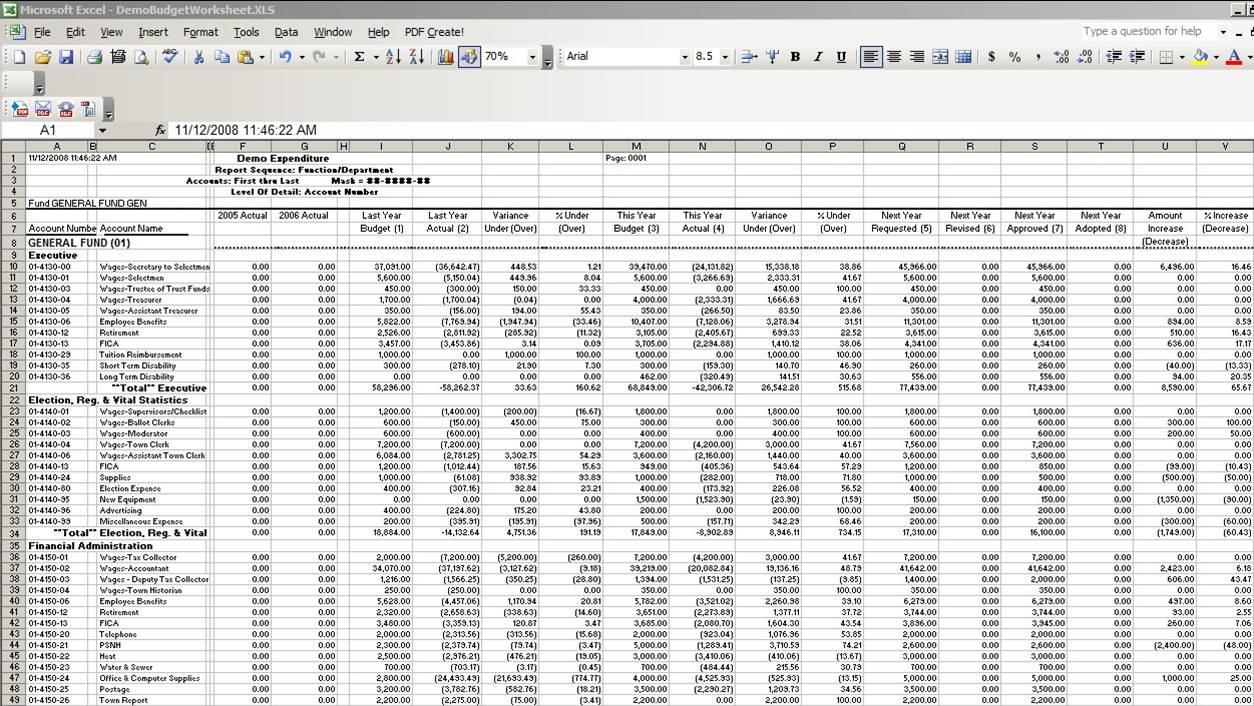 Bookkeeping Spreadsheet