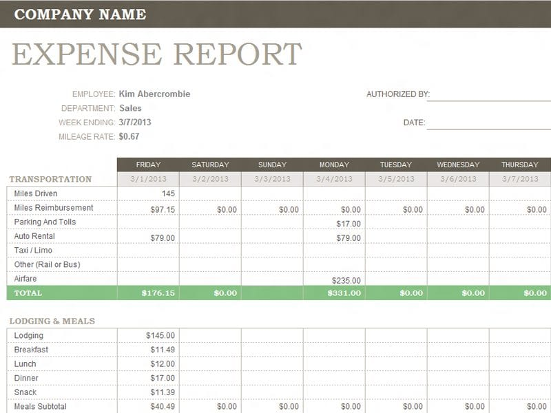 Business Budget Template Excel 1