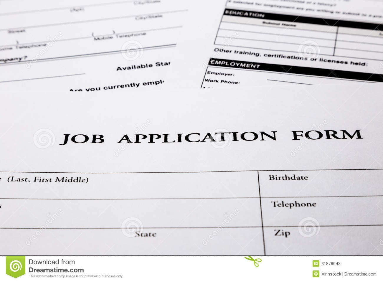 Business Job Applications