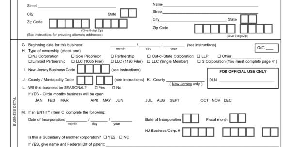 Business Registration Application Form