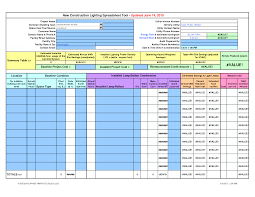 Business Spread Sheet Template
