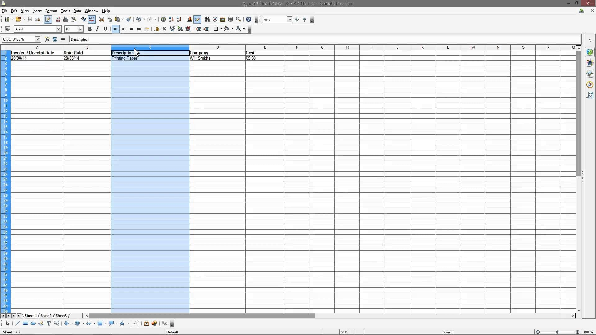 Business Spreadsheet Examples 1