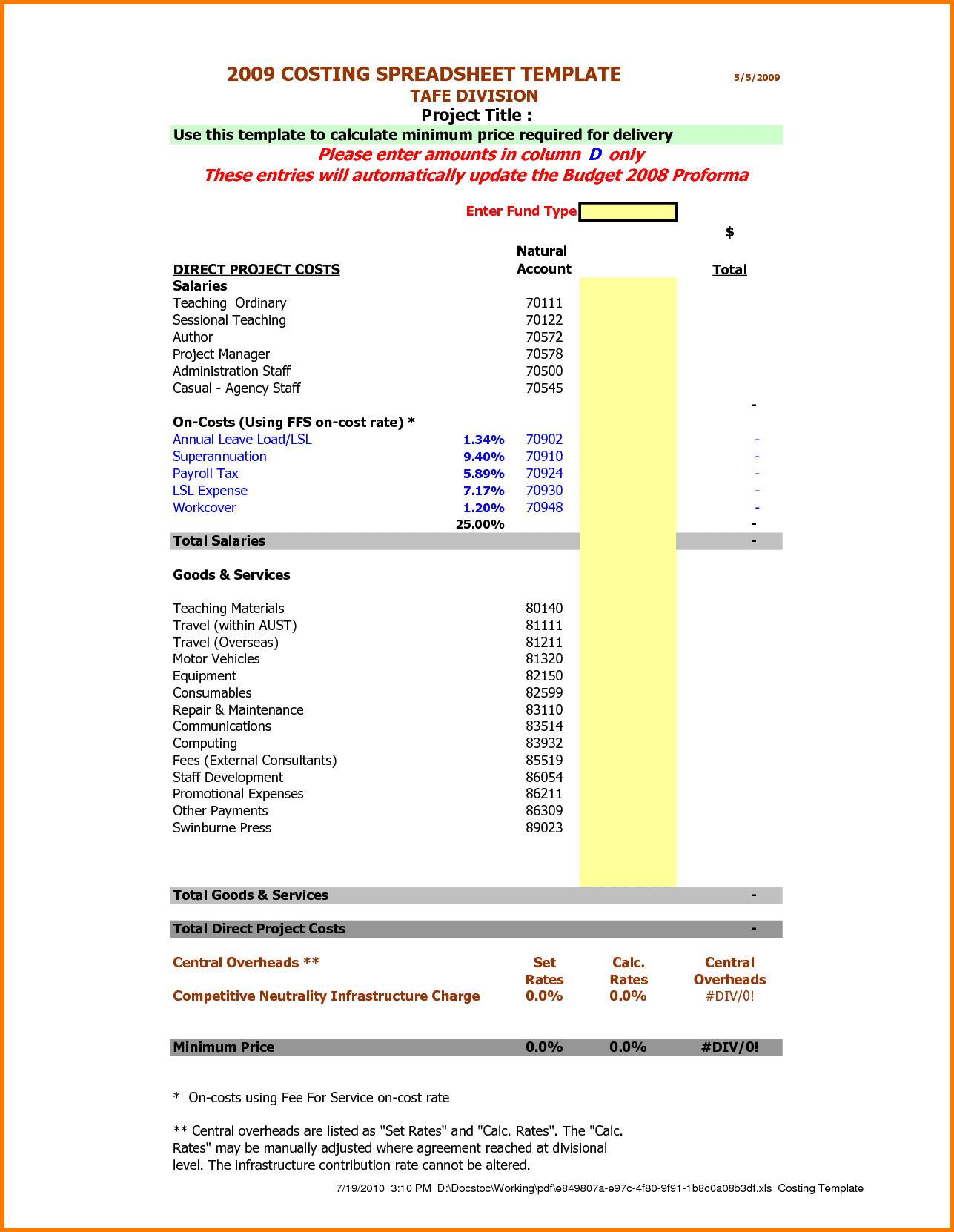 Catering Invoice Examples