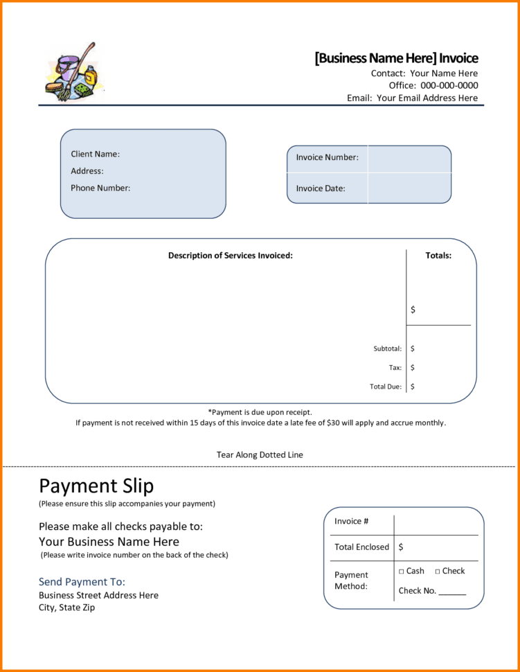 Cleaning Service Invoice Free Downloads