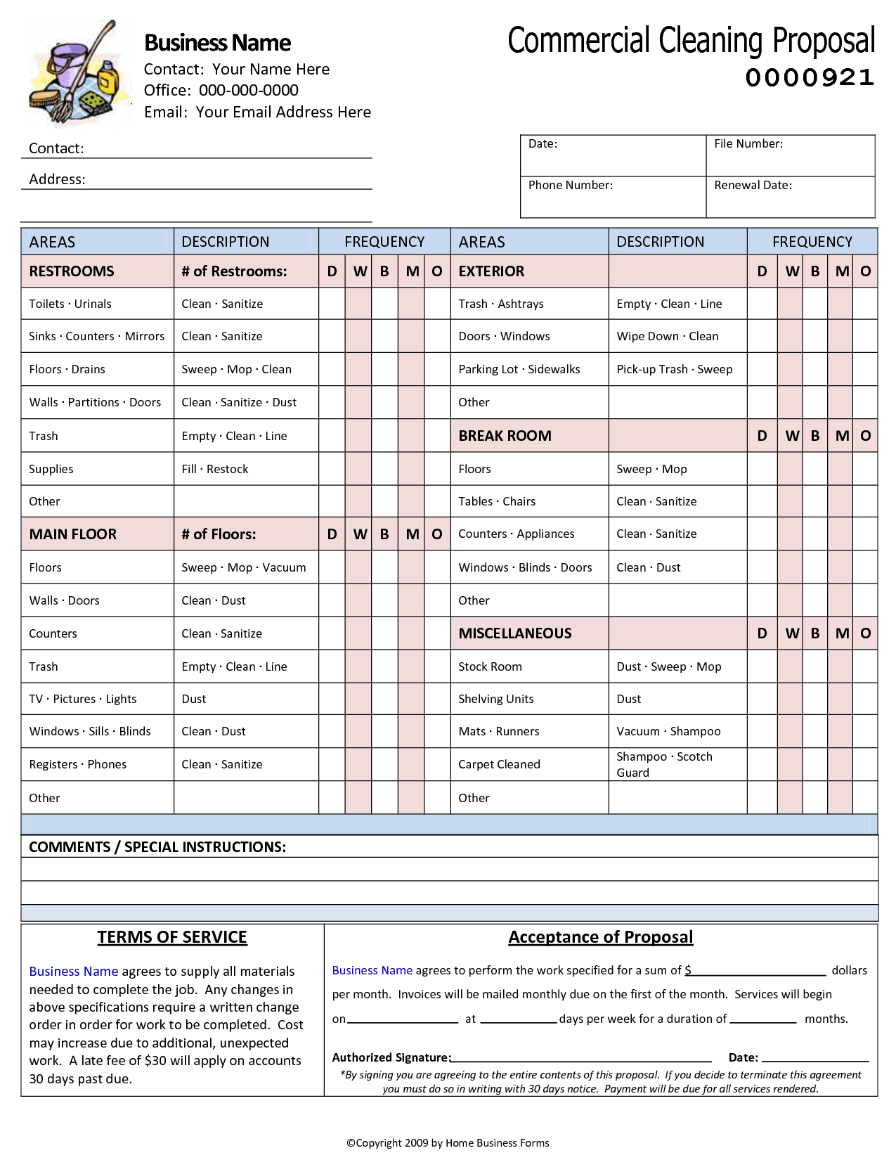 Cleaning Services Invoice Pdf
