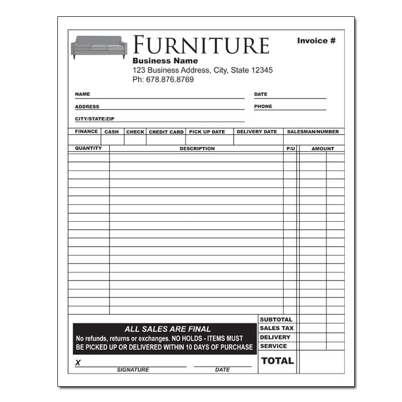 Commercial Shipping Invoice Template