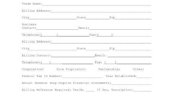 Credit Reference Request Form