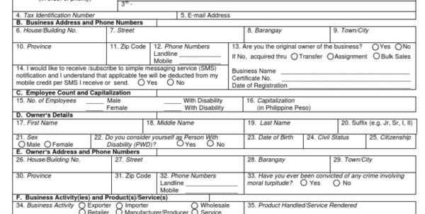 Dekalb County Business Registration Application