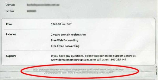Domain Name Corp Invoice