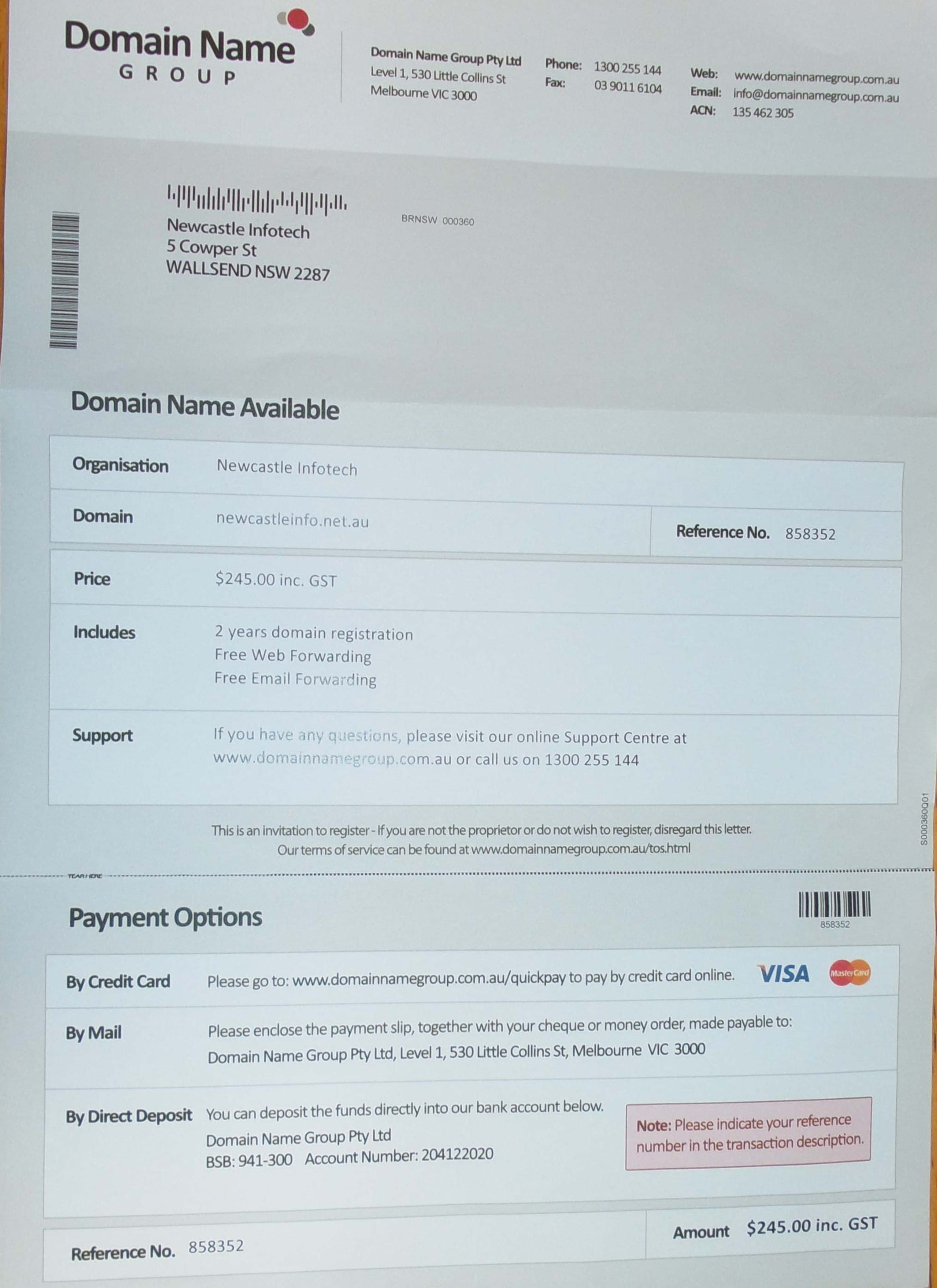 Domain Name Corp Pty Ltd