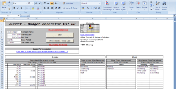 Excel Templates For Business