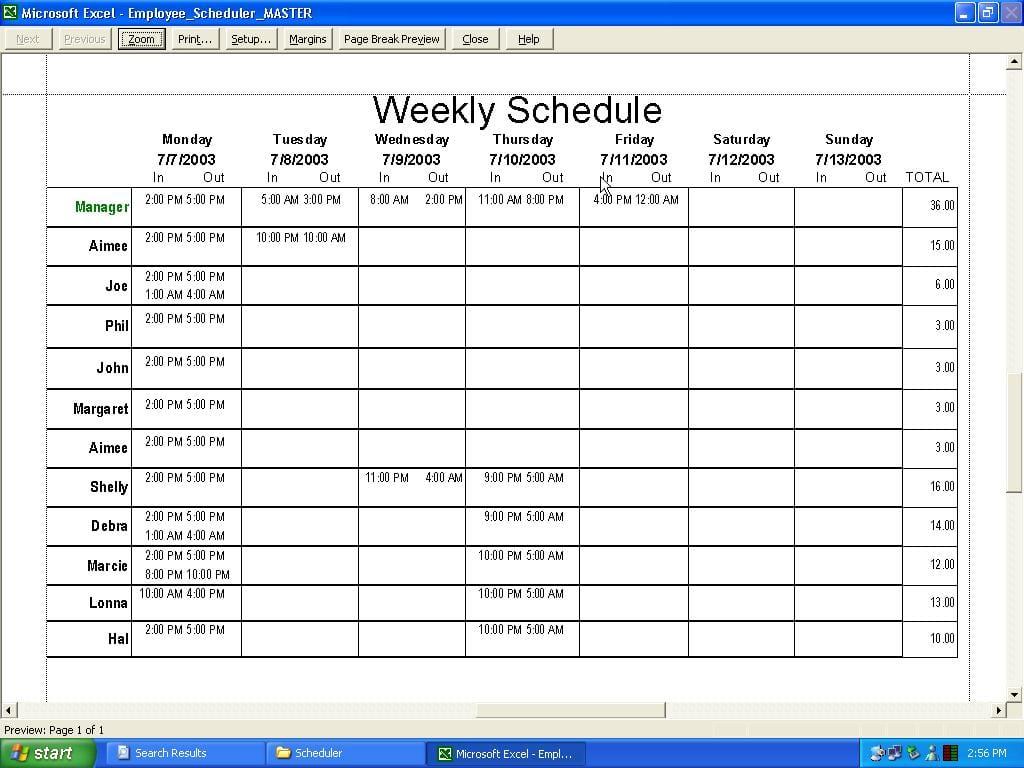 Excel Work Schedule Template Excel Spreadsheet Template For Scheduling Spreadsheet Templates for Busines Spreadsheet Templates for Busines Weekly Work Schedule Template