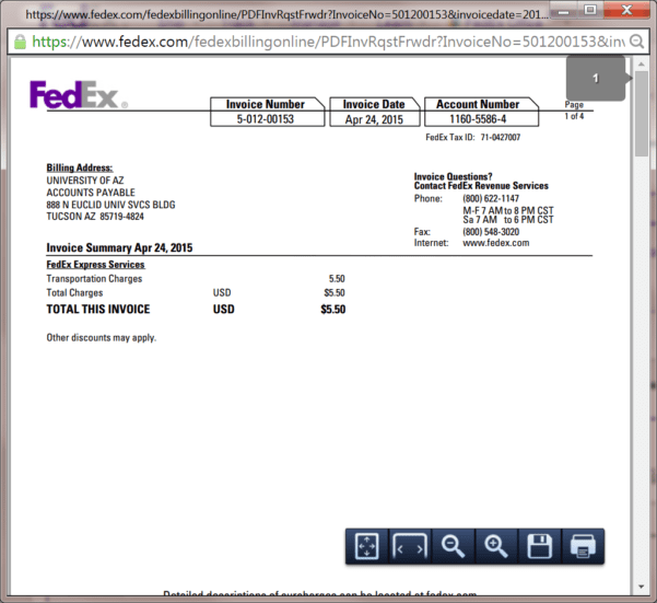 Fedex Invoices