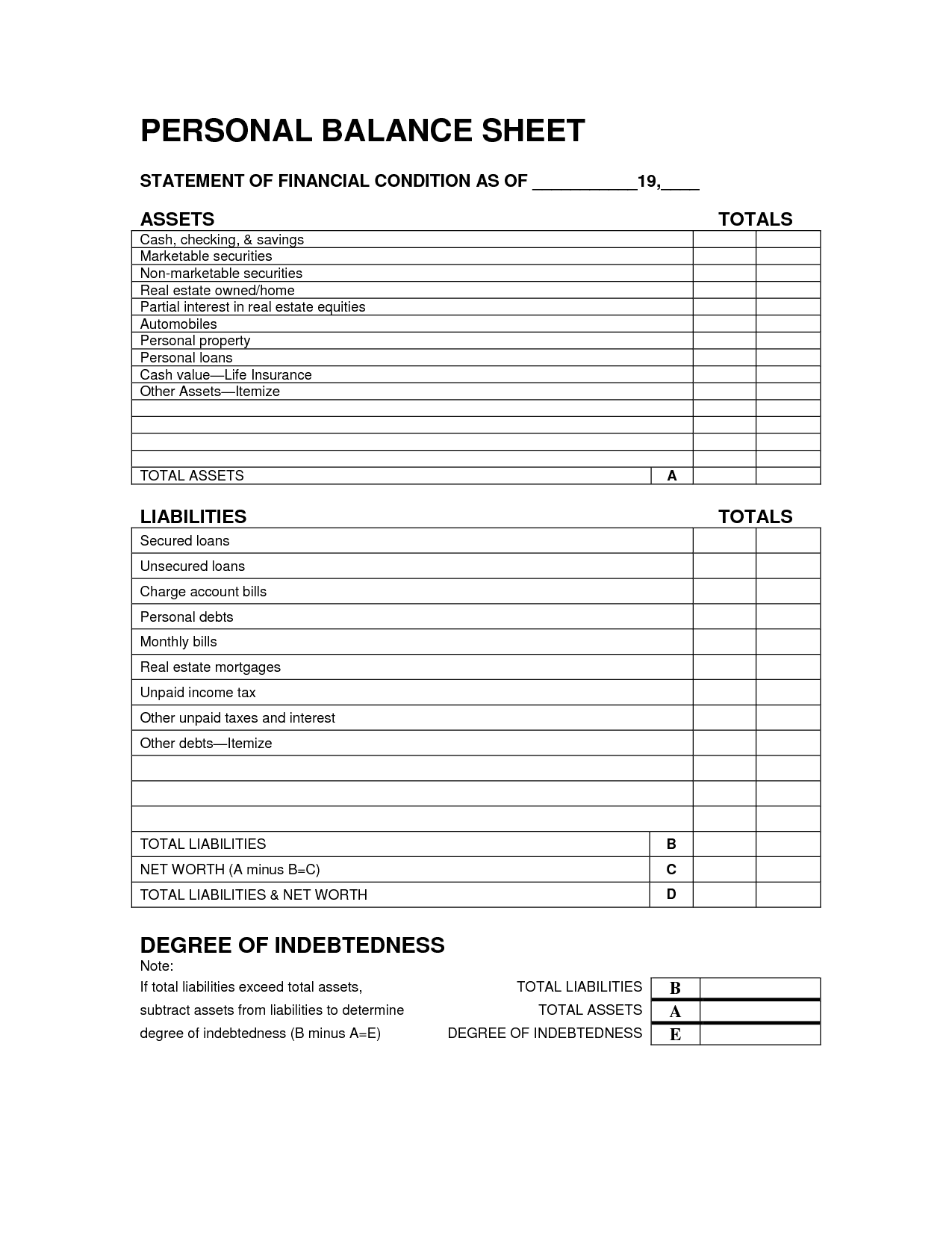 Free Accounting Forms Accounting Forms Balance Sheet Spreadsheet Templates for Busines Spreadsheet Templates for Busines Accounting Forms Templates