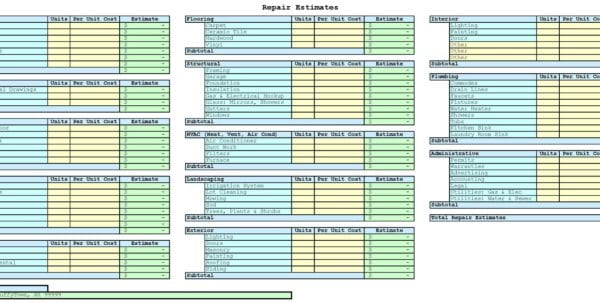 Free Building Estimate Format In Excel Estimating Spreadsheet Template Spreadsheet Templates for Business