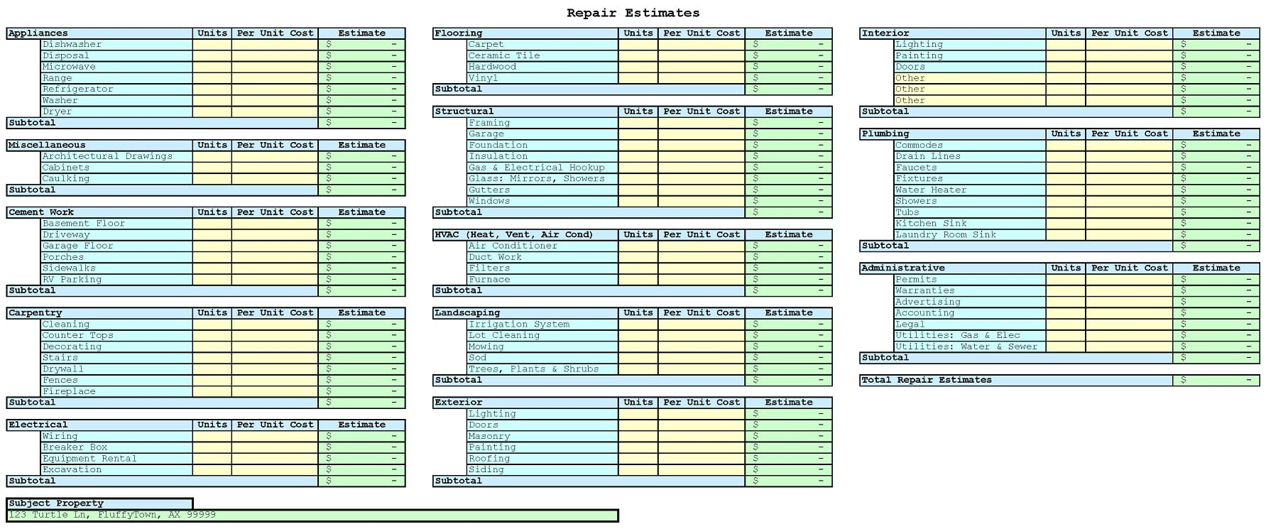 Free Building Estimate Format In Excel Estimating Spreadsheet Template Spreadsheet Templates for Busines Spreadsheet Templates for Busines Construction Cost Estimating Template